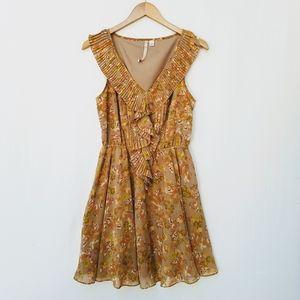 LC Lauren Conrad Sweet Floral Print Ruffled Dress